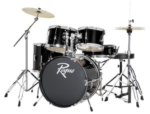 Rogue 5 piece Complete Drum Set youth beginner size -Black for Sale in North Olmsted, OH