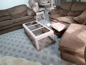 3 piece furniture couch set plus ottoman for Sale in Virginia Beach, VA