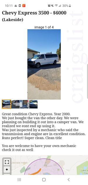 Chevy Express 3500 for Sale in Lakeside, CA