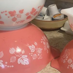 Pink Gooseberry print Cinderella Bowls for Sale in Dwight, IL