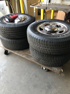 Rims/ new tires / originals ford f 150 6 holes. 265/ 70/17 for Sale in Los Angeles, CA