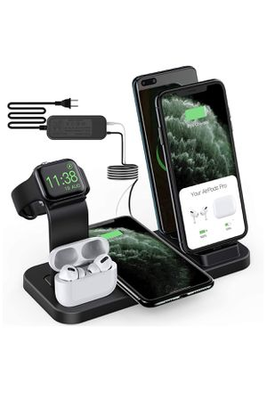 Charging station wireless 5 in 1 for Samsung and iphone for Sale in HALNDLE BCH, FL