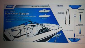 Support Pole and Strap System for Boat Storage Cover or Tarp. for Sale in Brier, WA