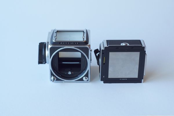 Hasselblad 500 C/M with PM 90 Prism Finder and 120mm f4 CF T* macro lens