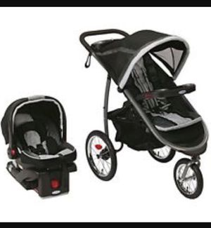 Graco jogger stroller with car seat for Sale in Boston, MA