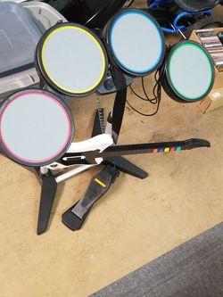 Platstation Drum Set And Guitar for Sale in Orlando,  FL