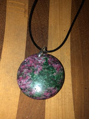 Pink and green agate sterling silver 925 stone necklace for Sale in Stockton, CA