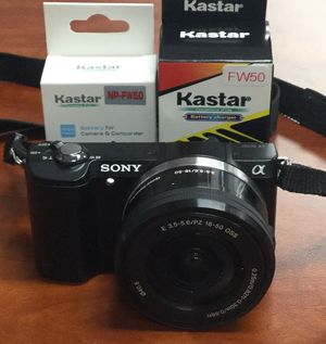 Sony alpha A5000 20.1mp digital camera w/ 2 batteries & charger for Sale in Lindenhurst, NY
