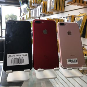 Phone 7 Plus (32GB , 128GB , 256GB )| Unlocked 🔓| 30 Days warranty✅ | All colors Available ❗️| Like New for Sale in Tampa, FL