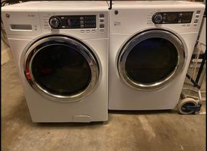 2019 matching front loader washer + electric dryer for Sale in Seminole, FL