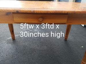 Solid Wood Table w/Drawer for Sale in Chesapeake, VA