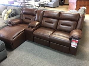 Modular reclining sofa with chaise and cup holders for Sale in Portland, OR