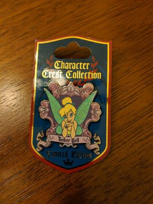 Disney character crest collection limited edition pin with Tinkerbell. Pin number 2 of 12 limited edition 1500 for Sale in Glendale, AZ