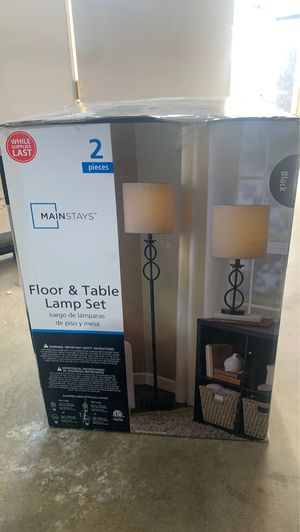 FLOOR and TABLE LAMP SET - NEW for Sale in Anaheim, CA
