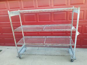 Heavy Duty Metal Rack with Wheels for Sale in Albuquerque, NM