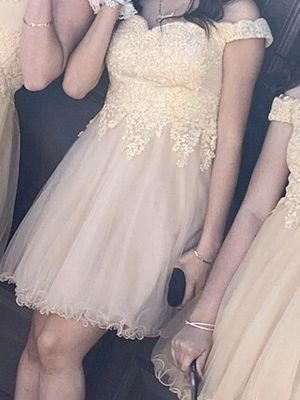 Champagne off the shoulder dress for Sale in Phoenix, AZ