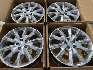 "2014-2021 Jeep Cherokee wheels 18"" 5x110 OEM Polished for Sale in Rancho Cordova, CA"