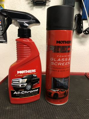 Mother's for your chrome rims and glass cleaner for you screen for Sale in Palmdale, CA