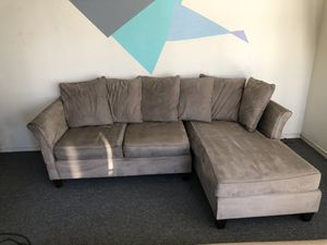 Microfiber couch - free - must pick up today 10/21 for Sale in Oakland, CA