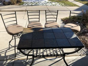High Top (stone tile) table and 4 chairs for Sale in Denver, CO