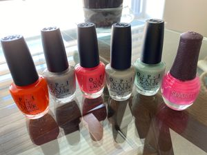 Beautiful OPI nail polish plus Aveda nail polish pink one for Sale in Glenview, IL
