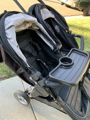 City select double stroller with accessories for Sale in La Mirada, CA