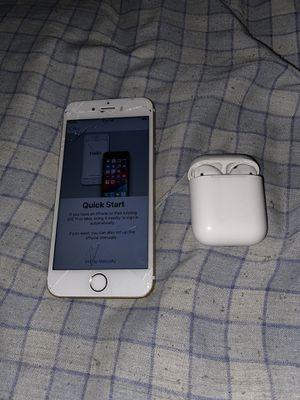 iPhone 6s + AirPods for Sale in Virginia Beach, VA