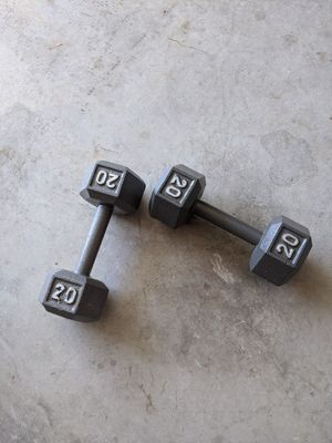 20lb Weighted Dumbells (Never Used) for Sale in Selma, TX