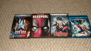 4 marvel movies collection for Sale in Germantown, MD