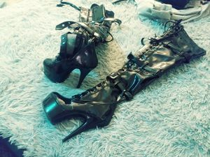 Leather over thigh platform boots for Sale in Winter Haven, FL