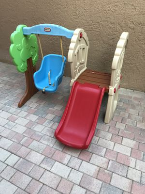 Little Tikes Toddler swing and slide set for Sale in Hollywood, FL