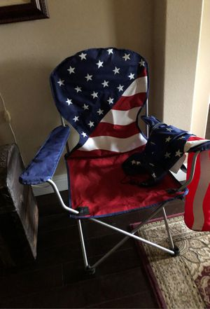 Stars & stripes camping chair with carrying bag. for Sale in Kingsburg, CA