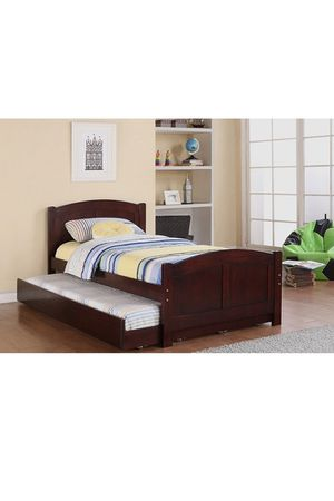 Twin bed frame with Trundle and mattresses for Sale in Miami, FL