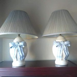 Two Blue Bow Lamps for Sale in Stockton, CA