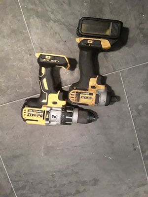 20v max xr dewalt drill and impact set for Sale in Des Moines, IA