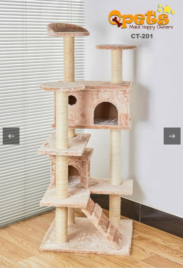 """New 50"""" Multi-Level Cat Tree Stand House Furniture Kittens Activity Tower with Scratching Posts Kitty Pet Play House"""