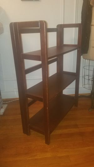 Foldable, cherry finished wooden shelf for Sale in Brooklyn, NY