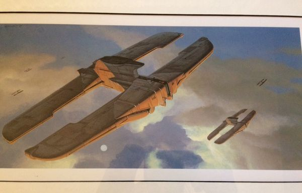 Star Wars art work. Signed and professionally framed. $10 each have 8 different scenes