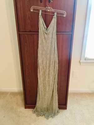 Gorgeous sequins silver dress size 12 for Sale in Gaithersburg, MD