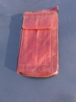 Brown Eel Skin Wallet Zip Up Womens for Sale in Portland,  OR