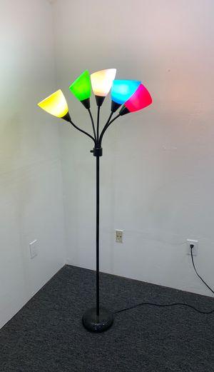 Floor lamp - 5 bulb, multi color adjustable for Sale in San Jose, CA