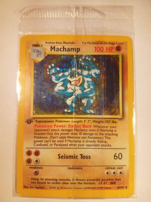*SHIP ONLY* Sealed Near Mint (NM) 1st Edition Machamp Holofoil #8/102 Original Base Set Pokemon TCG Trading Card WOTC Holographic Hologram Holo Foil for Sale in Phoenix, AZ