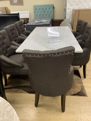 Real Marble 7 Piece Dining Set ON SALE for Sale in Federal Way, WA