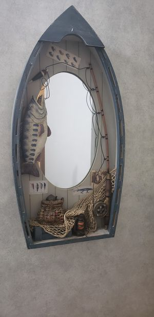 Nautical boat mirrored shelf for Sale in Indianapolis, IN