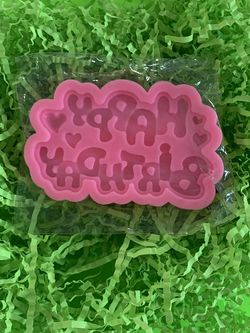 Happy Birthday /hearts Silicone Mold for Sale in Bakersfield,  CA
