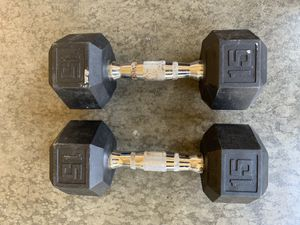 15lb dumbbell pair for Sale in Chino Hills, CA