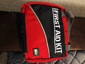 REI First Aid kit, Bivvy cover, rucksack, and light weight mummy sleeping bag. All REI NAME BRAND for Sale in Mesa, AZ