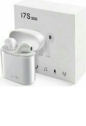 1 Box of i7s White New Wireless Earbuds, Charging Case and Charger for Airpods Compatible with Android and Apple for Sale in Westminster, CA