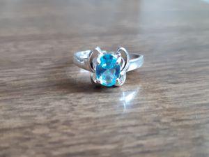 Aquamarine Sterling Silver Ring for Sale in Cedar Rapids, IA