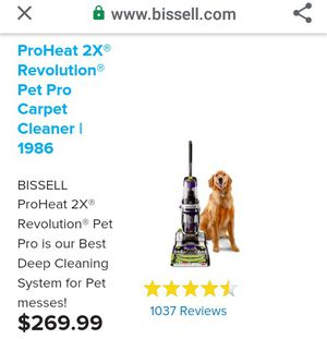 Bissell Proheat 2X Resolution Carpet Cleaner for Sale in Sacramento, CA